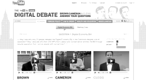 digital debate uk elections 2010 youtube